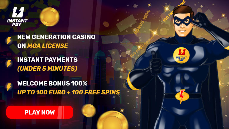 Welcome bonus of 100% up to 100€ + 100 free spins