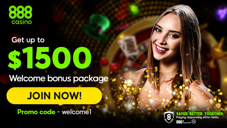 Get a great welcome bonus over at 888 Casino worth $1500!