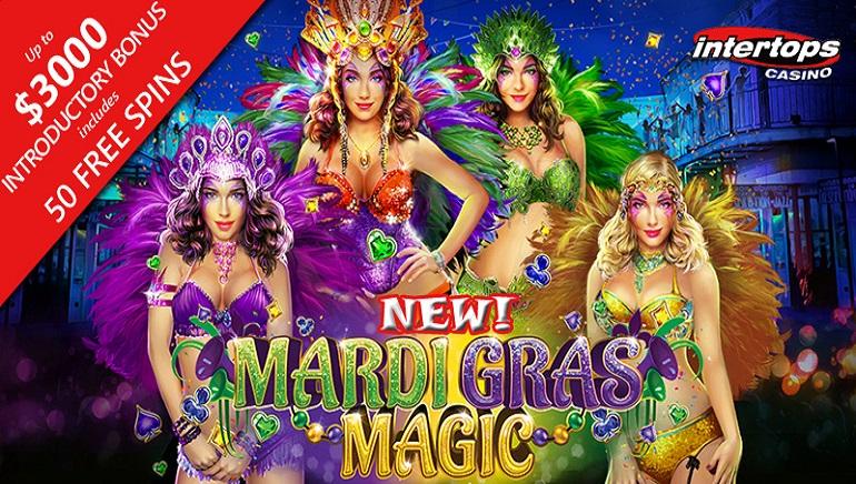Intertops Casino Celebrates Launch of Mardi Gras Magic Slot from RTG