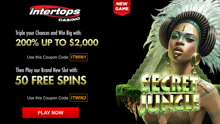 Intertops Casino Exclusive: 200% Bonus + 50 Free Spins