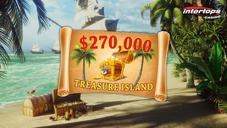 Intertops Casino Launches $270,000 Treasure Island Bonus Competition