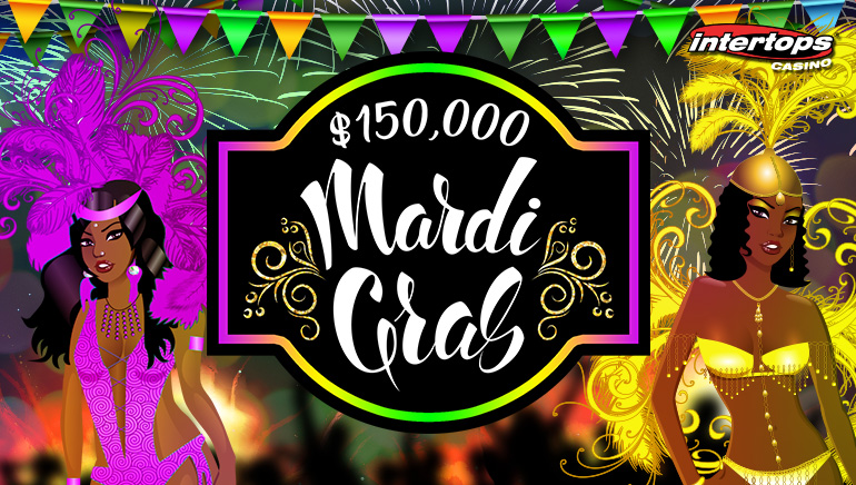 Celebrate The $150,000 Mardi Gras Promotion At Intertops Casino