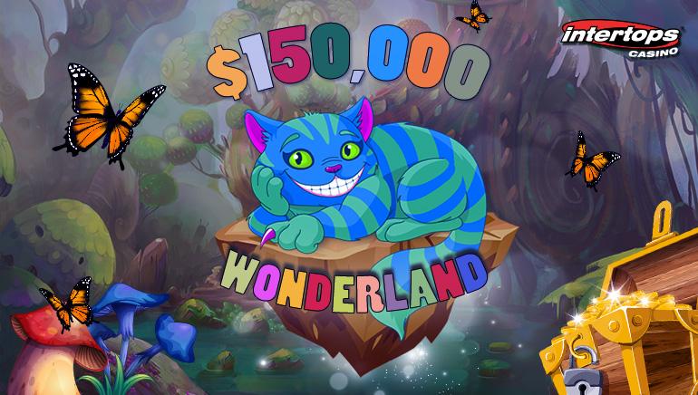Join The $150,000 Wonderland Bonus Contest At Intertops Casino This May
