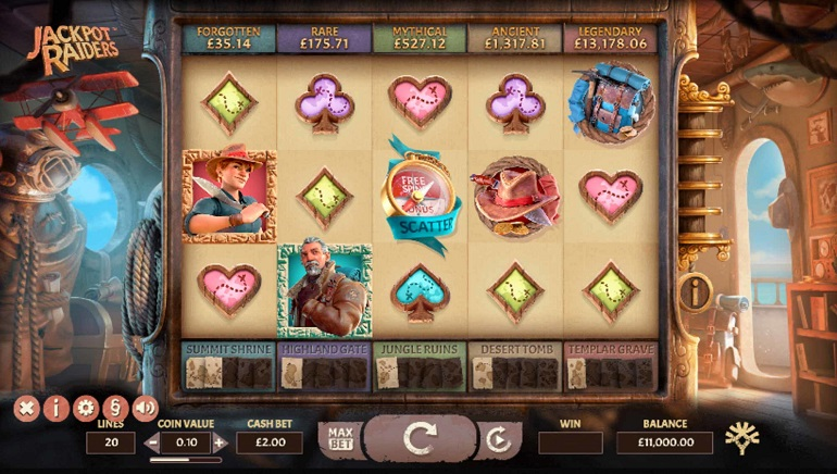 Jackpot Raiders Slot is Uncovered at Yggdrasil Casinos