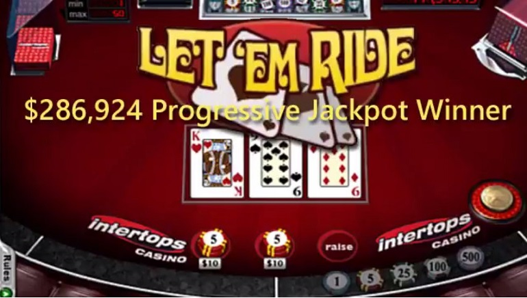 Intertops Player Scoops Royal Flush Jackpot on Let 'Em Ride & His Luck Continues