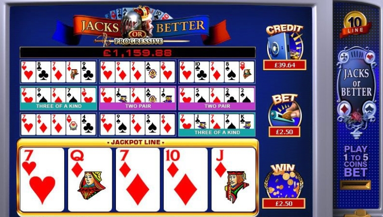 Jacks or Better Progressive Jackpot