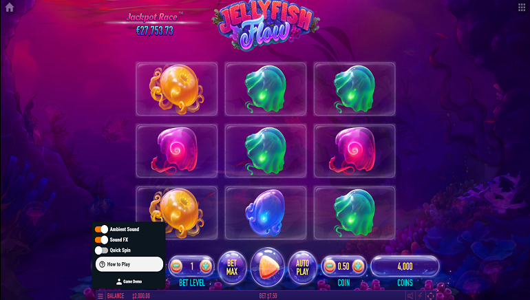 Habanero Launches Ocean-Themed Jellyfish Flow Slots Game