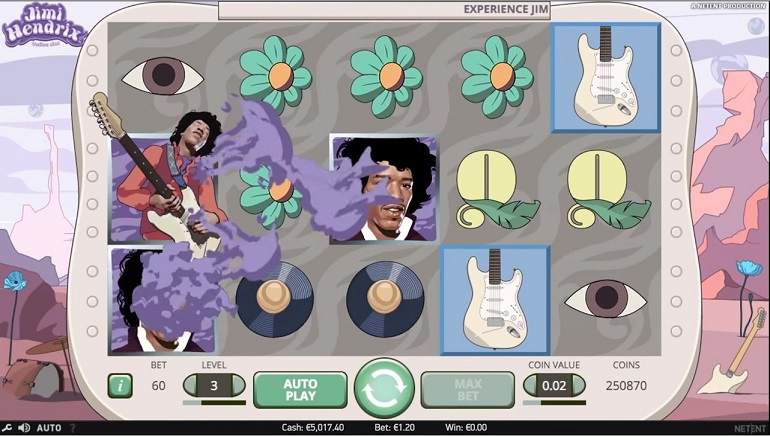NetEnt's Jimi Hendrix Slot Hits the Stage