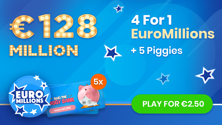Join Jinni Lotto Today & Get 4 EuroMillions Tickets at the Price of One