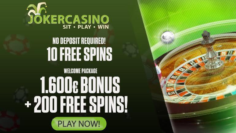 Joker Casino Welcome Bonus Is no Joke: €1,600 Free + 200 Free Spins