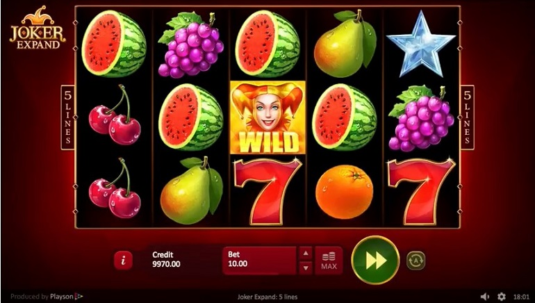Joker Expand Slot From Playson Adds Extra Features To A Classic Fruit Machine