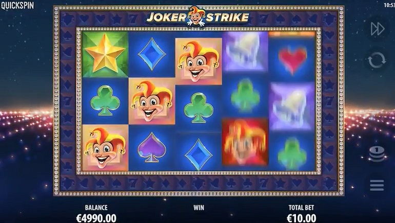 Unique Features in Quickspins' Joker Strike Slot