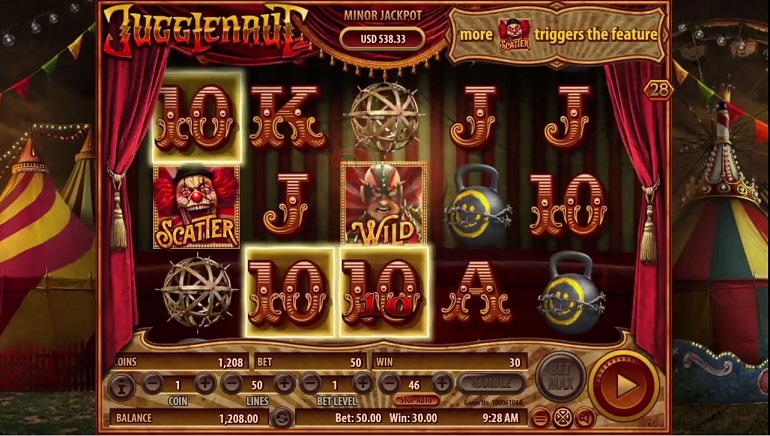 Play in a Dark and Twisted Circus in Habanero's New Jugglenaut Slot