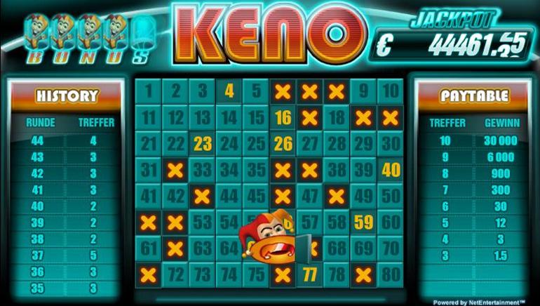 free keno