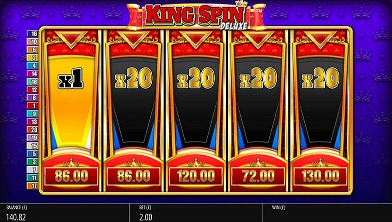 Spin For Royal Rewards With The King Spin Deluxe Slot From Blueprint Gaming