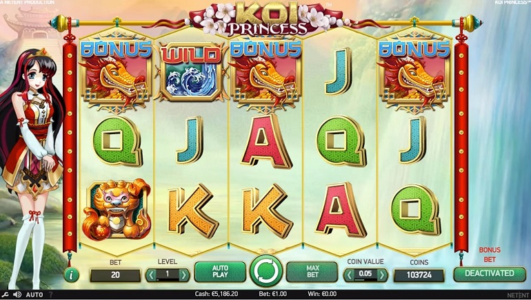 NetEnt's Koi Princess Slot to Hit Online Casinos this Month