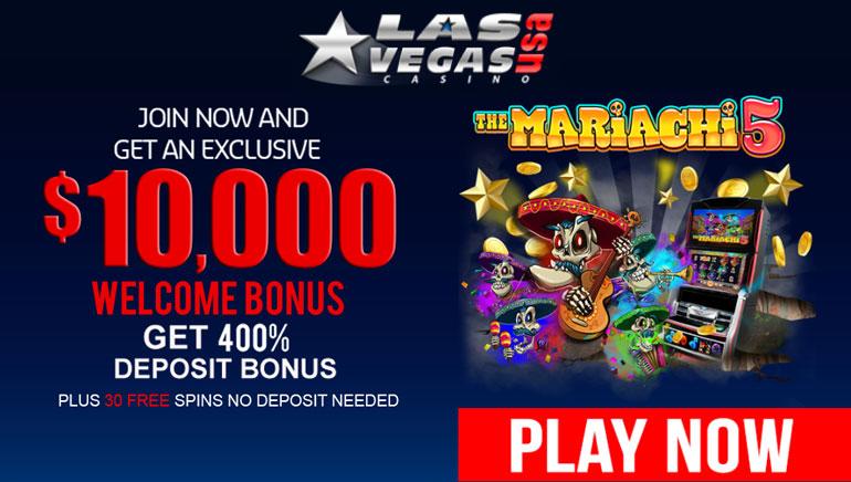 Las Vegas USA Casino Offers $10,000 Welcome Bonus Plus Free Spins