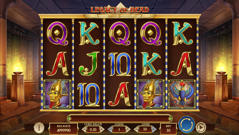 Start A Quest For Ancient Egyptian Treasures With The Legacy Of Dead Slot From Play'n GO