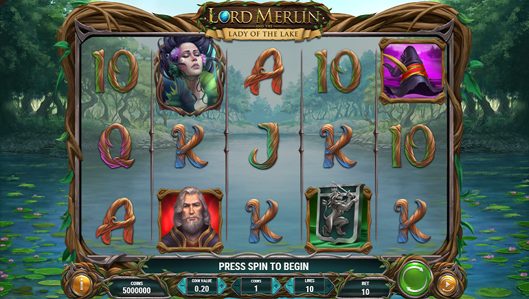 Be Enchanted by Play'n GO's New Slot, Lord Merlin and the Lady of the Lake