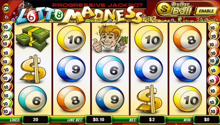 Lotto Madness Progressive Jackpot Slot