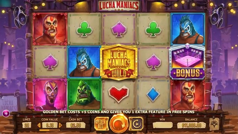Mexican Wrestling Themed Lucha Maniacs Slot Released By Yggdrasil