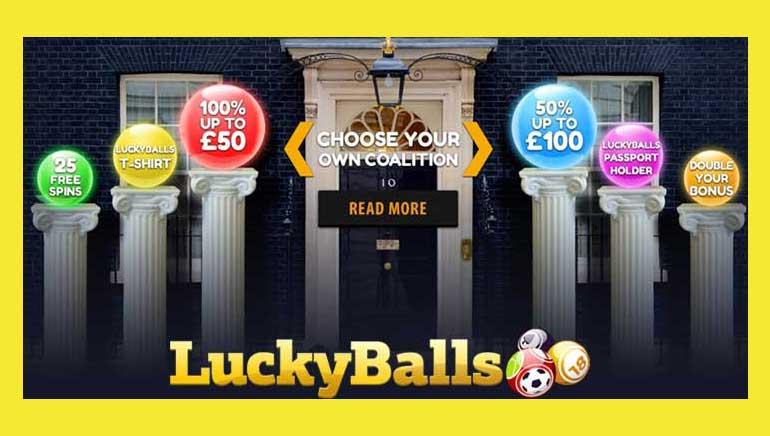 Grab a UK Election Bonus from LuckyBalls Casino