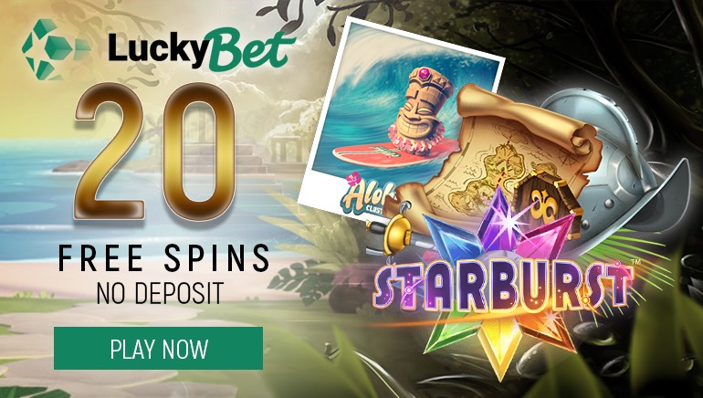 Get Started With 20 Free Spins + €1,300 Bonus at Luckybet Casino