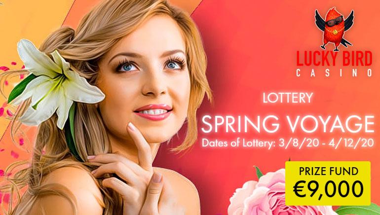 €9k Spring Voyage Lotto at Lucky Bird Casino