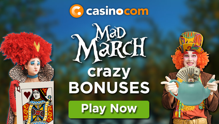 Go Crazy This Spring with Casino.com Mad March