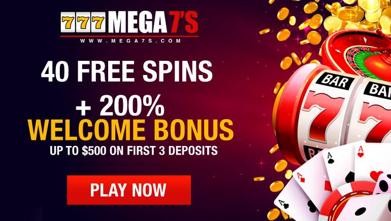 $3,000 Exclusive Bonus & 40 Free Spins at Mega7's Casino