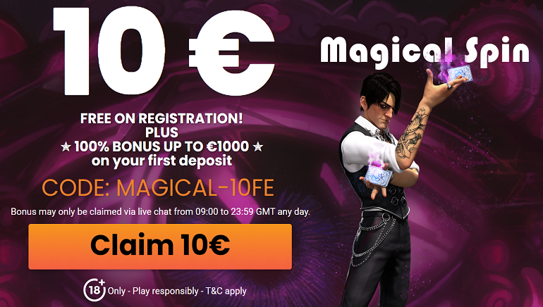MagicalSpin Welcomes New Players With €10 Free