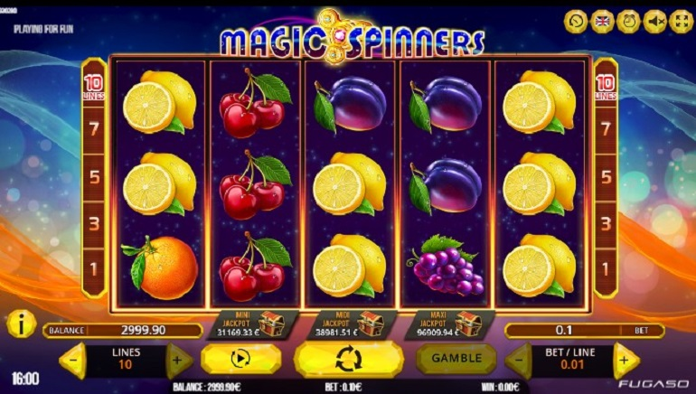 Fugaso Releases Magic Spinners Slot with Progressive Jackpot