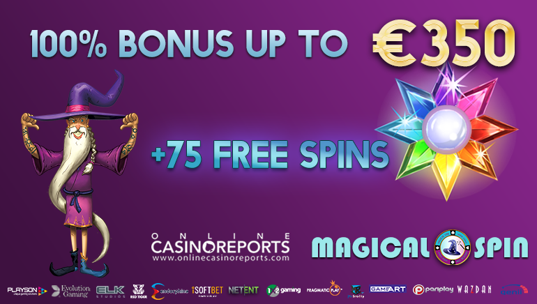 It's a Kind of Magic 100% up to €350 & 75 Freespins at Magical Spin