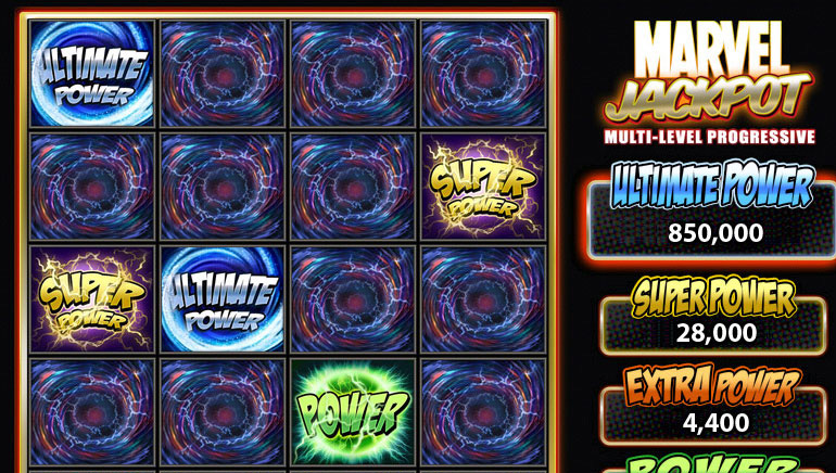 Marvel Extra Power Progressive Jackpot