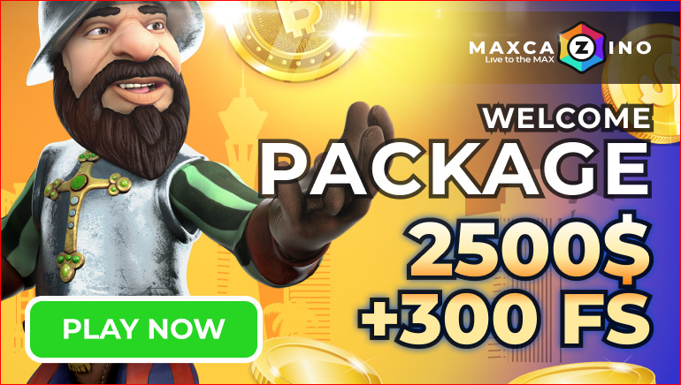 Max Cazino Offers €/$1,000 Bonus Pack with 300 Free Spins