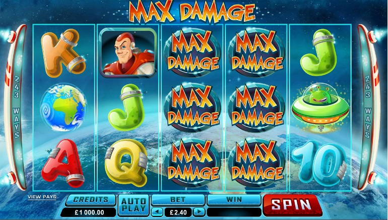 Popular Inter-Galactic Hero Max Damage's New Adventure