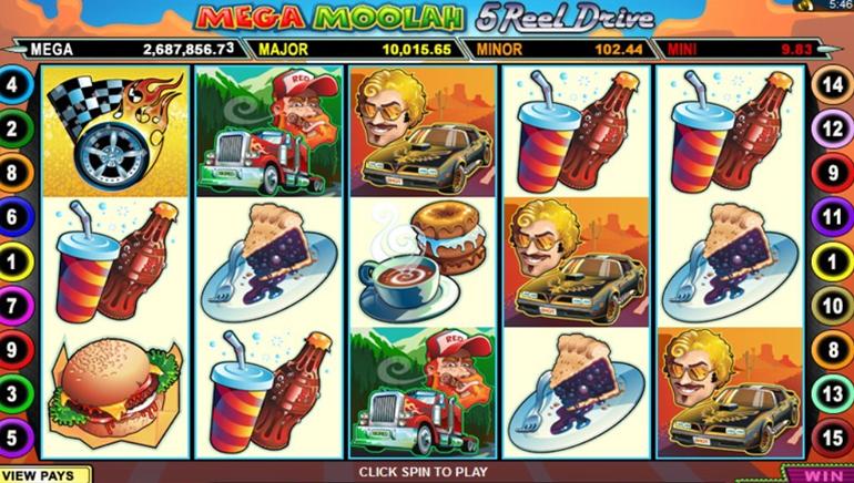 Mega Moolah 5 Reel Drive