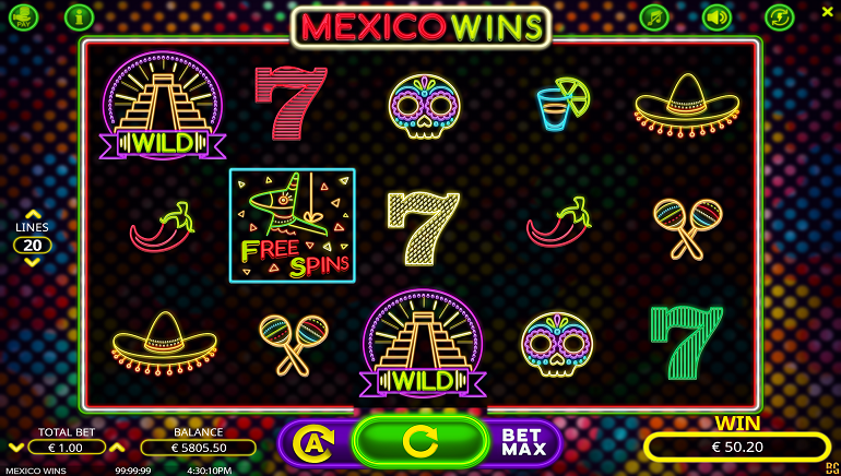 Party with the Mexico Wins Slot from Booming Games