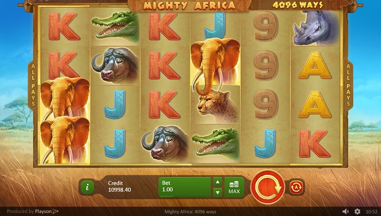 Mighty Africa: 4096 Ways Slot is New at Playson Casinos