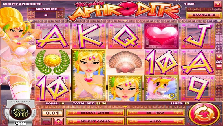 Fall In Love With The Mighty Aphrodite Slot From Rival Gaming