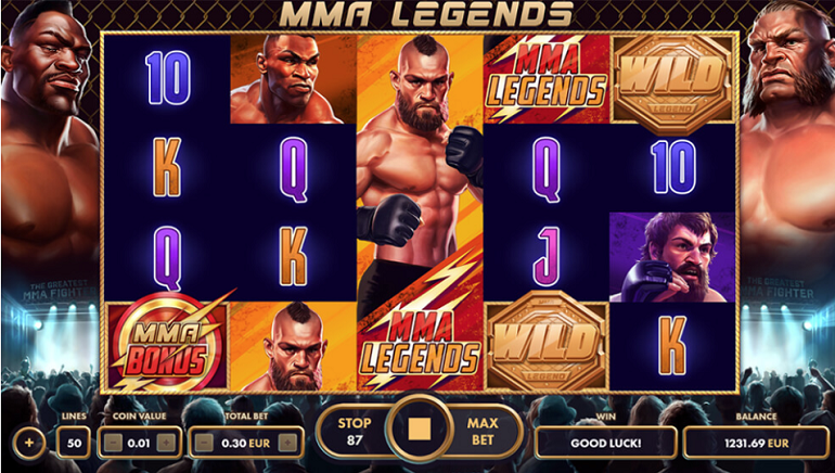 Famous Fighters Do Battle In New MMA Legends Online Slot From NetGame Entertainment