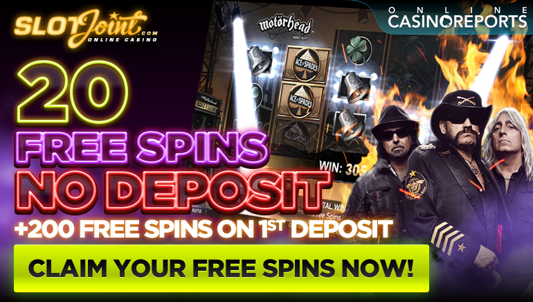 Rock with 20 No Deposit Free Spins on NetEnt's Motorhead Slot at SlotJoint