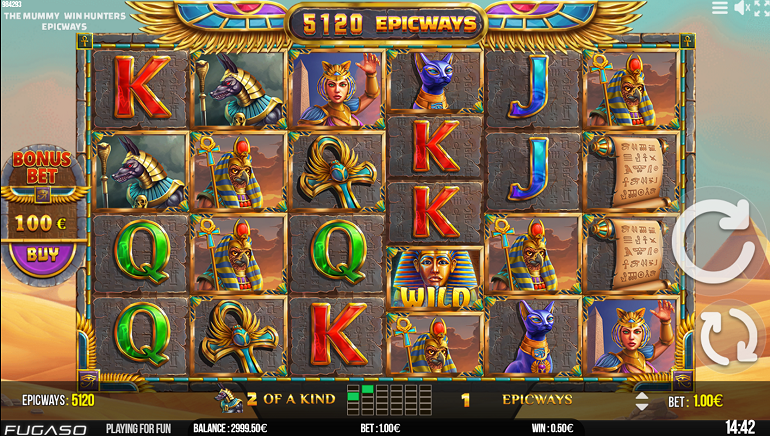 Fugaso Releases The Mummy Win Hunters Slot Featuring EPICWAYS