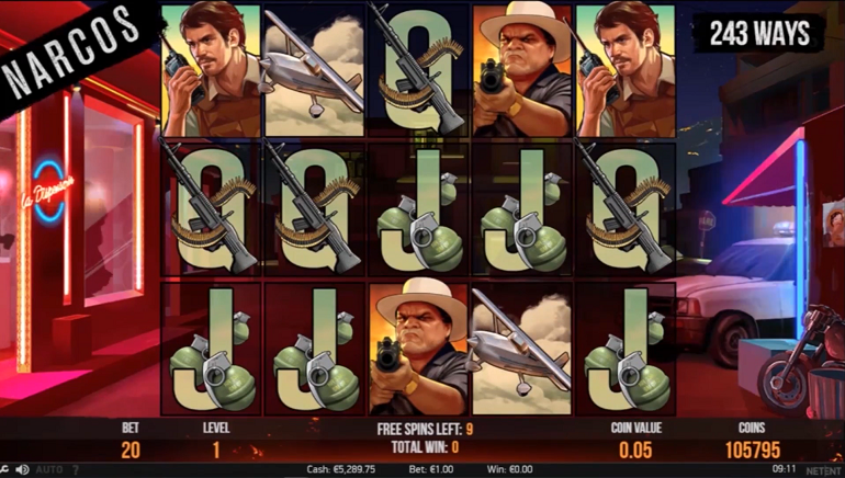 NetEnt's Narcos Slot Hits the Streets