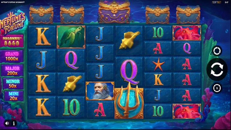 Players Can Dive Into New Neptune's Fortune Megaways Online Slot From iSoftbet