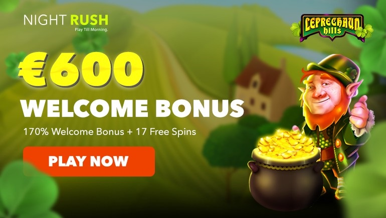 Get €600 and 17 Freespins at NightRush Casino