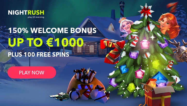Grab Your Holiday Bonus Package Worth €1000 at NightRush Casino