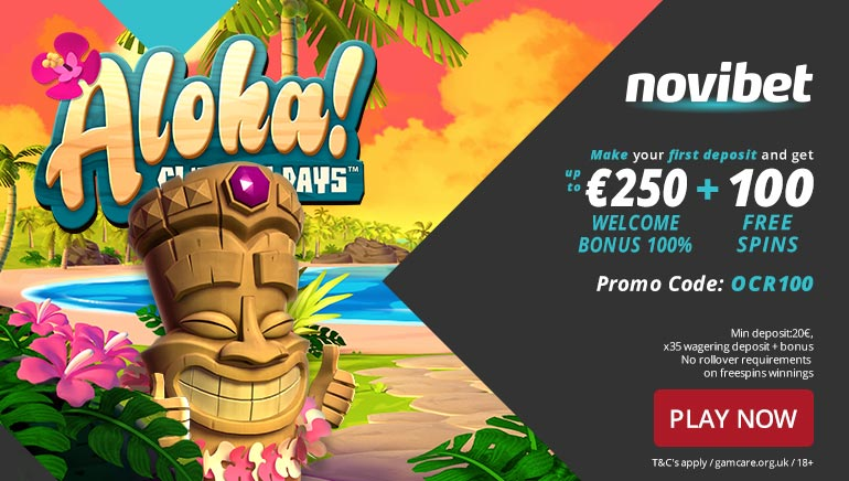 100 Freespins and €250 Welcome at Novibet