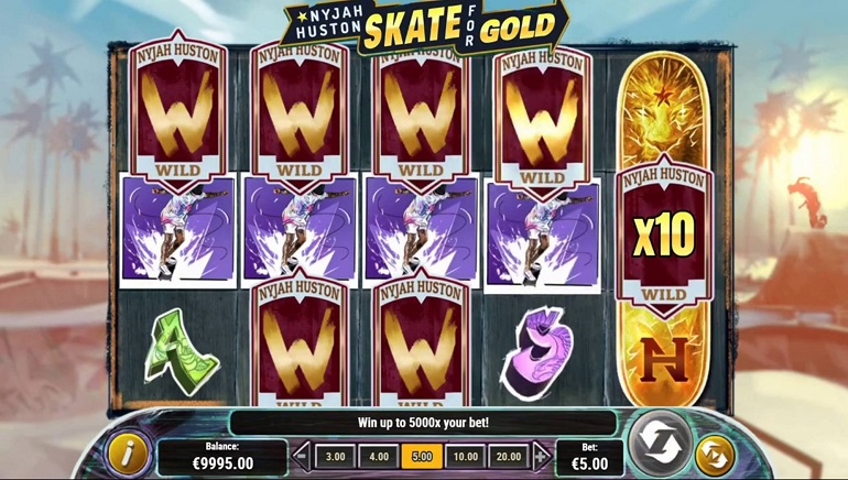 Get Your Skates On For New Nyjah Huston - Skate For Gold Slot From Play'n Go