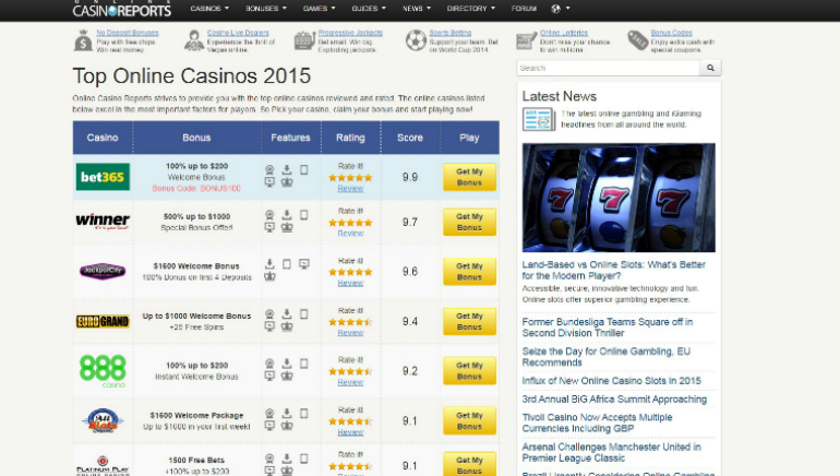 Online Casino Reports Unveils New Website Design